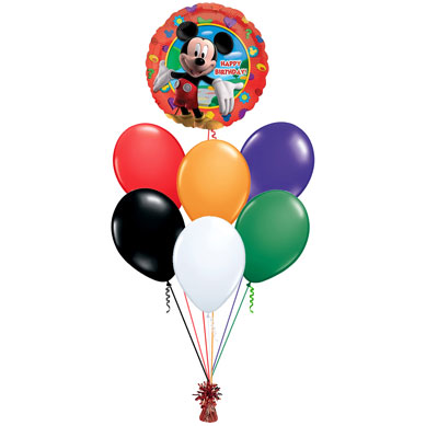 Ramo de Globos Happy Birthday Micey Mouse