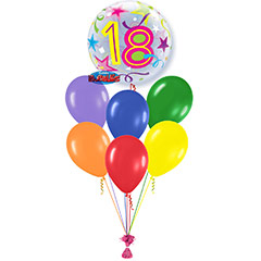 Ramo de Globos Feliz 18 Cumpleaños Burbuja