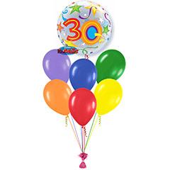 Ramo de Globos Feliz 30 Cumpleaños Burbuja