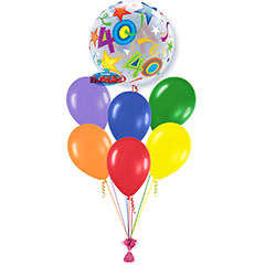 Ramo de Globos Feliz 40 Cumpleaños Burbuja