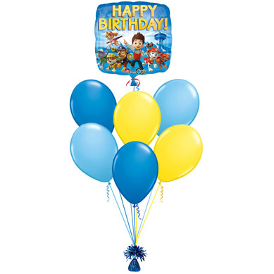 Ramo de Globos Happy Birthday Patrulla Canina