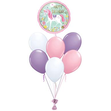 Ramo de Globos Happy Birthday Unicornio