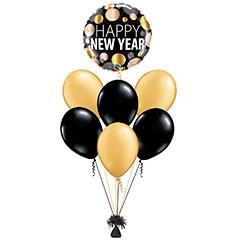 Ramo de Globos Happy New Year Redondo