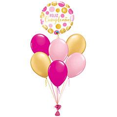 Ramo de Globos Feliz Cumpleaños Confeti