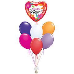 Ramo de Globos Feliz Día Mamá Corazón