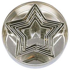 Cortadores de galletas con formas de estrellas, Set 6 u.