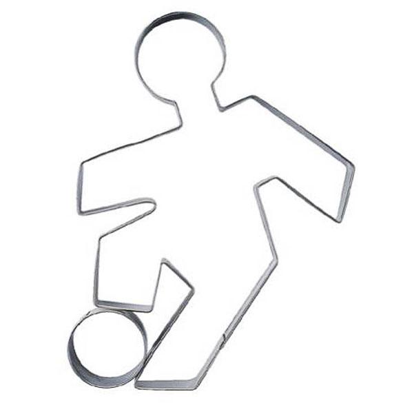 Cortador de galletas con forma futbolista