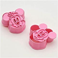 Cortadores forma de cabeza de Mickey y Minnie Mouse, Set 2 u.