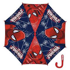 Paraguas Spiderman tela mango rojo