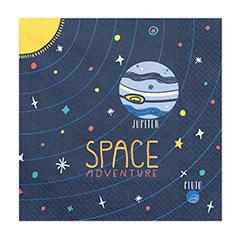 Servilletas Space Party 33 x 33 cm, Pack 20 u.