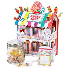 Expositor tienda de cartón para alimentos con 12 bolsas