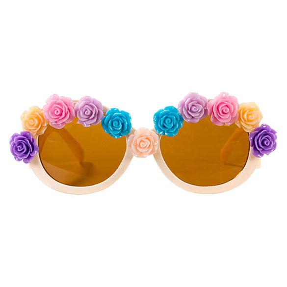 Gafas flores rosas