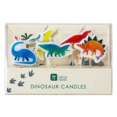 Velas cumpleaños Dinosaurios, Pack 5 u.