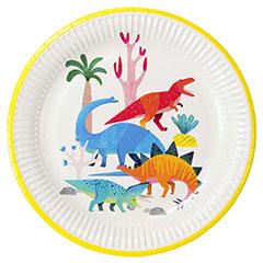 Platos Dinosaurios 23 cm, Pack 8 u.