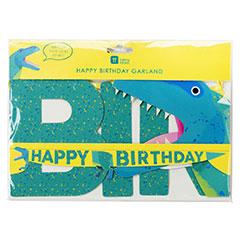 Guirnalda Happy Birthday Dinosaurios