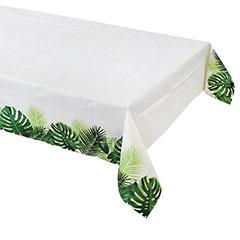 Mantel Hojas Tropicales 180 x 120 cm papel encerado, Pack 1 u.