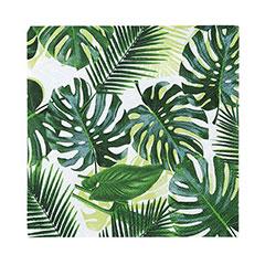 Servilletas Hojas Tropicales 25 x 25 cm, Pack 20 u.