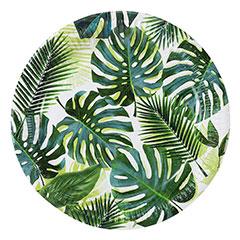 Platos Hojas Tropicales 23 cm, Pack 8 u.