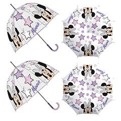 Paraguas infantil burbuja Minnie Mouse