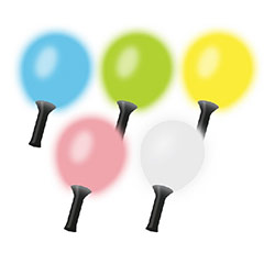 Maraca con globo luz led multicolor