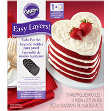 Moldes antiadherente para tarta con forma de corazón, 5 u - Ítem1