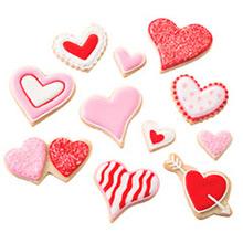 Cortadores de galletas corazones Wilton, Set 7 u. - Ítem1