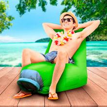 Sillón de playa o piscina inflable verde - Ítem1