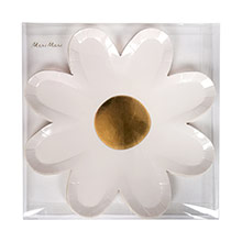 Platos flor Daisy 22,50 cm, Pack 8 u. - Ítem1