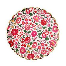 Platos Liberty flores borde Dorado 18,00 cm, Pack 8 u. - Ítem2