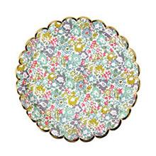 Platos Liberty flores borde Dorado 23,00 cm, Pack 8 u. - Ítem3