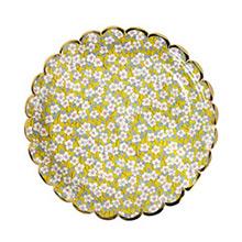 Platos Liberty flores borde Dorado 23,00 cm, Pack 8 u. - Ítem5