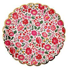 Platos Liberty flores borde Dorado 23,00 cm, Pack 8 u. - Ítem2