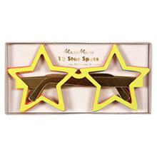 Gafas de cartón reversibles forma estrella, Pack 12 u - Ítem1