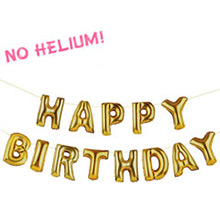 Guirnalda de globos dorados, Happry Birthday - Ítem1