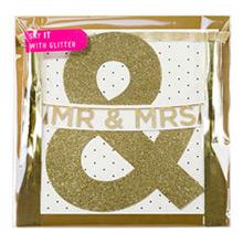 Guirnalda MR & MRS dorada con purpurina - Ítem1