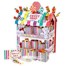 Expositor tienda de cartón para alimentos con 12 bolsas - Ítem1