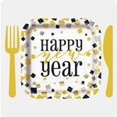 Fiesta servilletas Happy New Year Cheers 33x33 cm mesa decoración decoración nochevieja