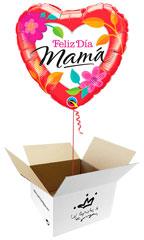 Globos Feliz día Mamá en caja sorpresa