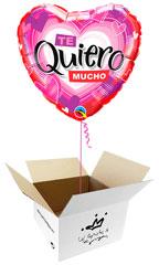 Globos para San Valentín en caja sorpresa