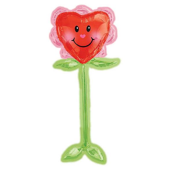 Globo Corazón en forma de flor