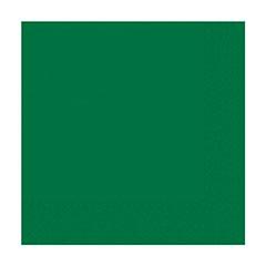 Servilletas lisas verde 25 x 25 cm, Pack 20 u.