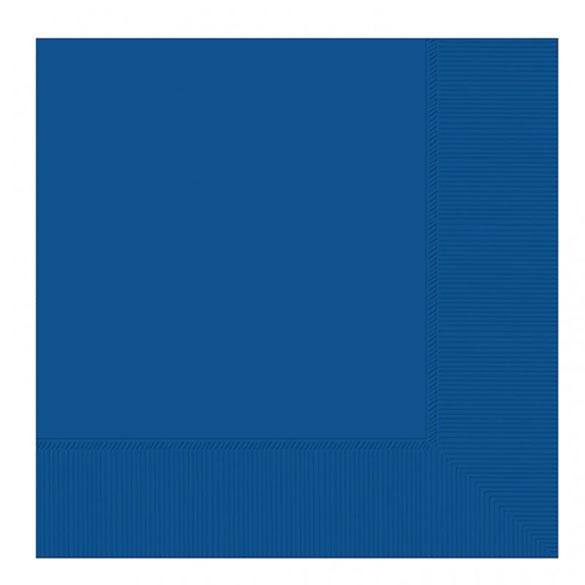 Servilletas lisas azules 33 x 33 cm, Pack 20 u.
