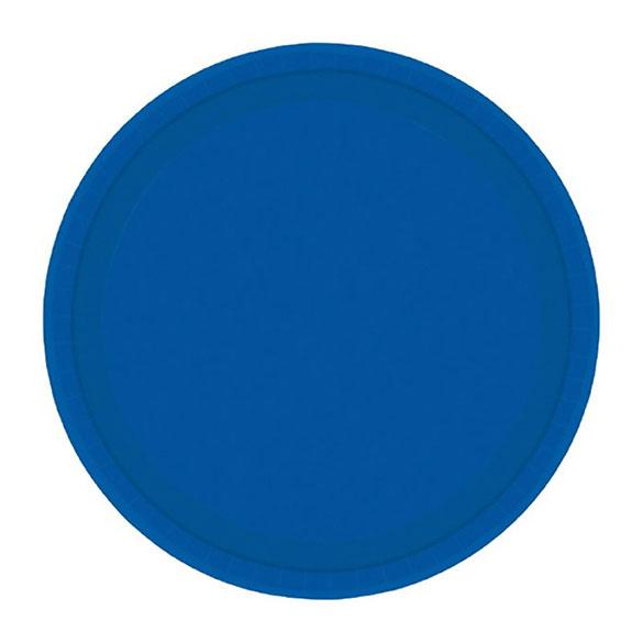 Platos Azules lisos 17,80 cm, Pack 8 u.
