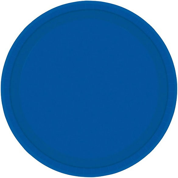 Platos Azules lisos 22,90 cm, Pack 8 u.