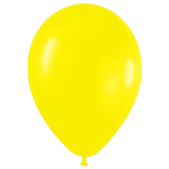 Globos de Látex Amarillos. Pack 10 unidades