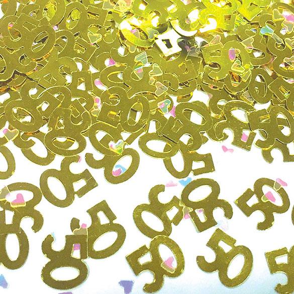 Confeti metálico 50 aniversario