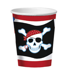Vasos Piratas 266 ml, Pack 8 u.
