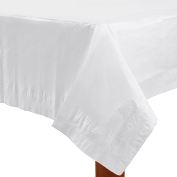 Mantel liso blanco 274 x 137 cm impermeable, Pack 1 u.