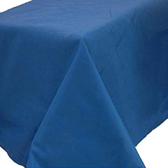 Mantel liso azul 274 x 137 cm impermeable, Pack 1 u.