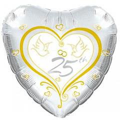 Globo corazón 25 Aniversario